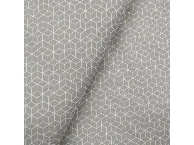 Plátno - Geometrie na šedé