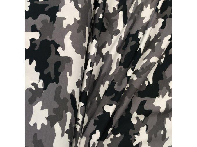 Úplet - Černo-šedý maskáč
