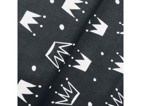 Plátno - Korunky na černé