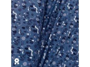 1723 Teplákovina Medvědí park, modrá