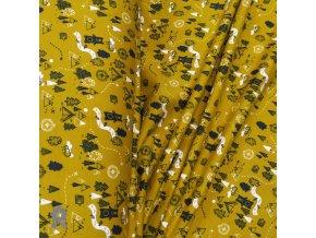 1724 Teplákovina Medvědí park, okrová
