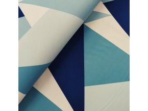 DOSTŘIH: Zimní softshell - Trojúhelníkový maskáč - modrá 50CM