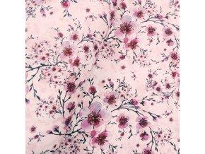 Zimní softshell 10/3 - Růžové květy