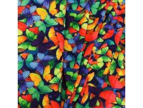 Umělé hedvábí | Silky - Barevní motýlci