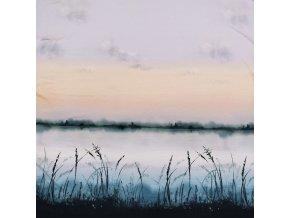 Viskózový úplet, panel - Jezero 80x170cm