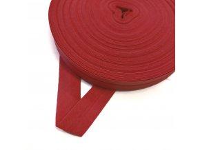 2012 Šikmý proužek bavlněný 14 mm zažehlený Červená