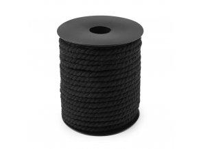 2020 Bavlněná kroucená šňůra, 5 mm Černá