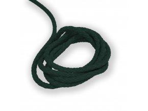 Oděvní šňůra kulatá PES, 4mm Tmavě zelená 2055