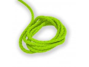 Oděvní šňůra kulatá PES, 4mm Neonově zelená 2053