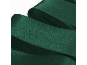 2111 Šikmý proužek saténový šíře 20 mm zažehlený Tmavě zelená