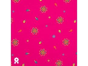 820 Drobné květy na fuchsiové
