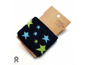 869 Modro zelené hvězdy na tmavě modré