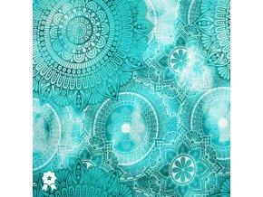 969 Bláznivé ornamenty modrá