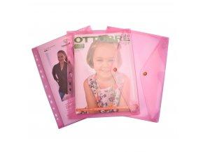 998 Desky s drukem na střihy, A4, euroděrování růžové