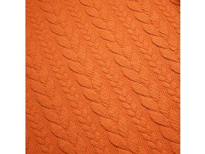 Teplákovina - Copánky, oranžová
