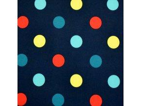 1027 Puntíky na tmavě modré