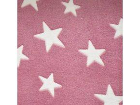 1068 Růžový, bílé hvězdy