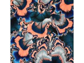 1091 Modro lososový polodrahokam