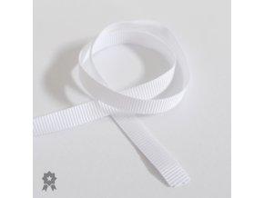 Galanterie - Poutko rypsové 7mm, metráž - bílá