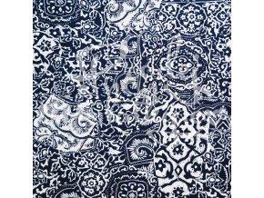 536 Modro bílo tisk