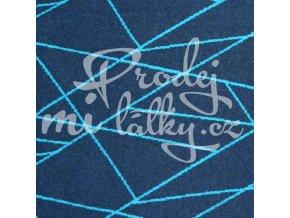 403 tyrkysové čáry na modré melanž