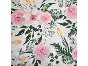 1253 plátno Růžová růže