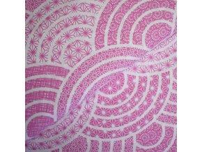 1250 Plátno Růžové mandaly