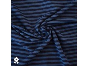 1269 Úplet Pruhy, tmavě modrá