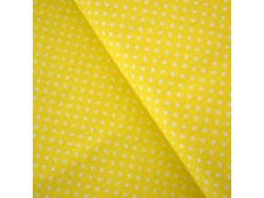 1293 Plátno Puntíky na žluté
