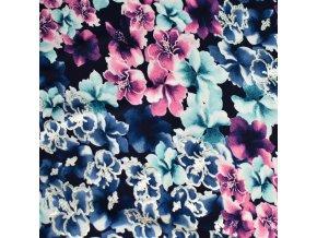 1366 Viskoza Květy s lurexem