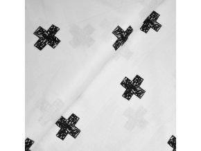 1369 Plátno Art kříže na bílé
