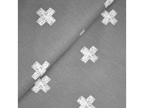 1370 Plátno Art kříže na šedé