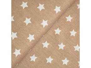 1375 Plátno Hvězdičky na béžové