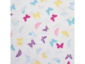 1403 Bavlněný úplet Motýlci, šíře 2m
