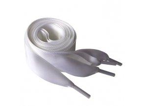 1432 Saténové tkaničky do mikin, 110cm bílá