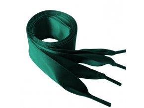 1437 Saténové tkaničky do mikin, 110cm zelená
