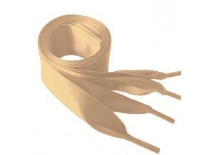 1431 Saténové tkaničky do mikin, 110cm krémová