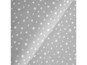 1438 Plátno Hvězdičky na šedé