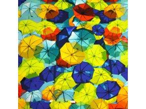 1242 Úplet Deštníky modré