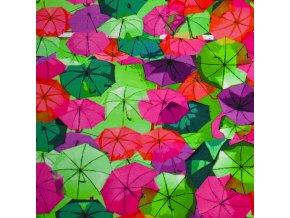 1423 Úplet Deštníky růžové