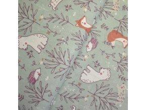 1441 Plátno Kamarádi ježek, liška, medvěd a zajíc
