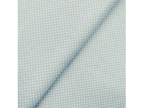 Plátno - Modrý puntík