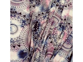 Viskózový úplet - Růžové mandaly