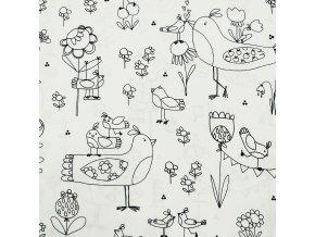 Bavlna - Omalovánka - Ptáčci