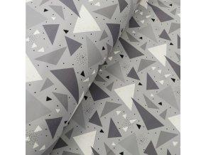 Zimní softshell - Šedé trojúhelníky