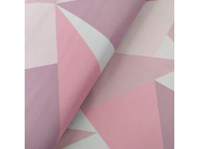 Zimní softshell 10/3 - Trojúhelníkový maskáč - růžová