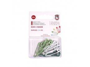 1580 Spínací špendlíky Duplex Color Zelená mix