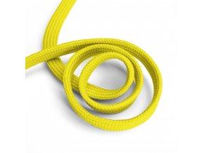 1603 Oděvní šňůra plochá, 10mm žlutá