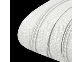 Z1 Nekonečný zip spirálový 3mm, bílá