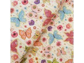 Plátno - Barevní motýlci